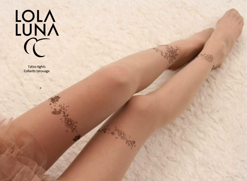 Tatouage impression pantyhose opaque tatouage